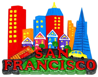 San Francisco Colorful Skyline Magnet