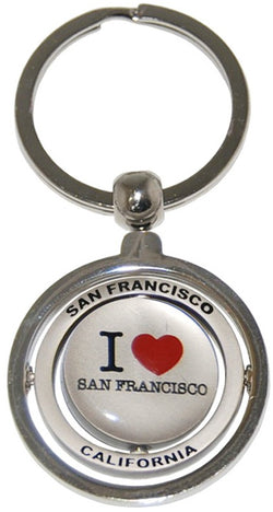 I Love San Francisco Spinning Keychain