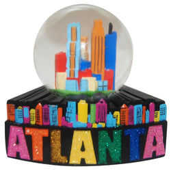 Atlanta colorful snowglobe