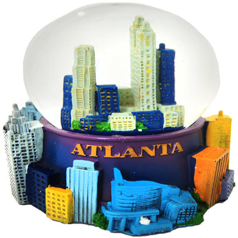 Atlanta skyline snowglobe with 3-d buildings on the outside