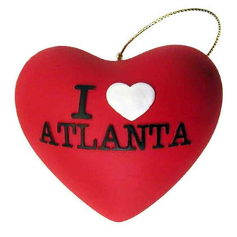 I Heart Atlanta Ceramic Christmas Ornament