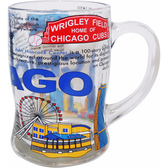 chicago beer mug with all of chicaago illinois history