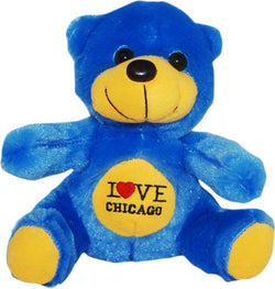 blue i hear chicago neon  novelty cute bear