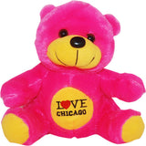 hot pink  i hear chicago neon  novelty cute bear
