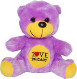 purple   i hear chicago neon  novelty cute bear