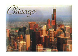 Chicago skyline colorfull photo magnet