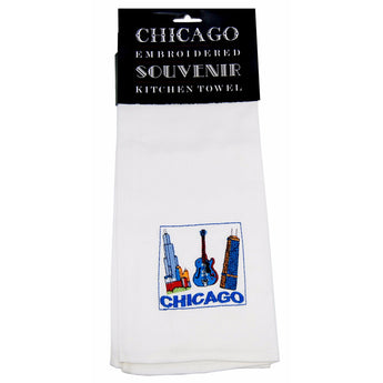 City of chicago famous towel souvenir