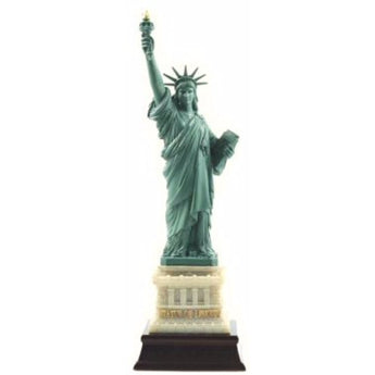 Large 11 inch Statue of Liberty Replica with Wooden Base