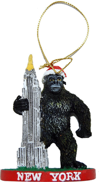 King Kong Holding The Empire State Building Novelty 3-D Christmas Ornament