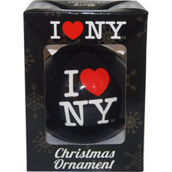 Black I love NY Christmas  ordement