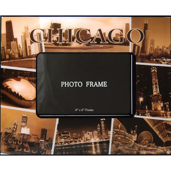 Large Chicago Sepia Picture Frame