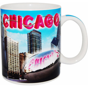 City of Chicago Peaceful Blue Sky Coffee Mug