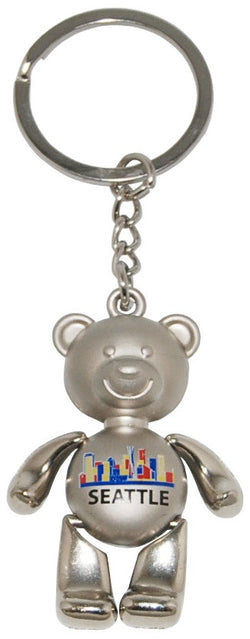 Seattle Teddy Bear Keychain