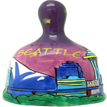 Seattle Hand Painted Skyline Bell