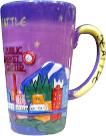 purple java mug seattle building s