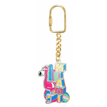 Miami Gold Plated Colorful Keychain
