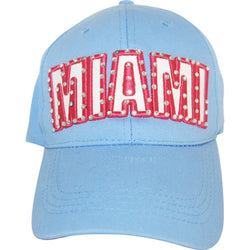 Miami Light Blue Embroidered Hat