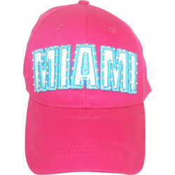 Pink Miami Embroiderd Hat