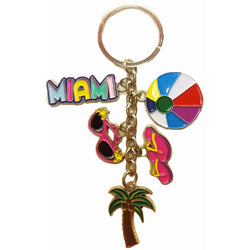 Miami Fun in the Sun 5 Charm Keychain