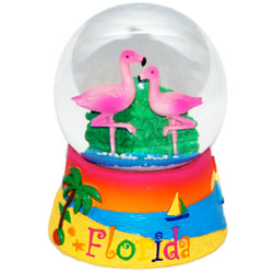 Large Florida Sunset Flamingo Snowglobe