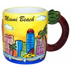 Miami Beach Handpainted 11 oz mug