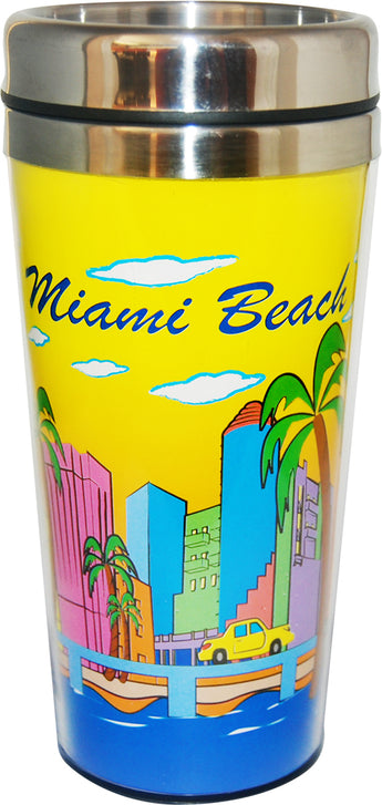 Miami Sunny Day Design Travel Mug