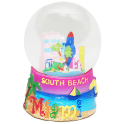 Large South Beach Miami 45mm Snowglobe