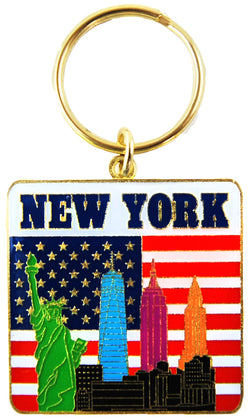 New York City Skyline Colorful Keychain