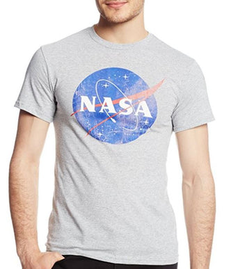 NASA Grey Distressed Designed T-Shirt