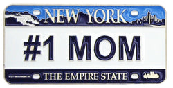 #1 Mom New Yorklicence plate magnest