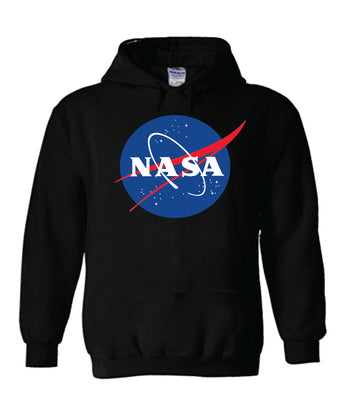 Nasa National Space Administration Logo Black Unisex Hooded Sweatshirt Hoodie