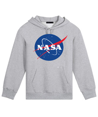 Nasa National Space Administration Logo Grey Unisex Hooded Sweatshirt Hoodie