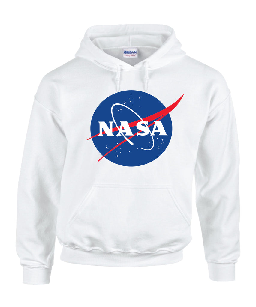 Nasa National Space Administration Logo White Unisex Hooded Sweatshirt – CityDreamShop