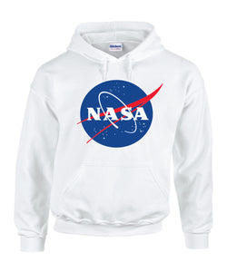 Nasa National Space Administration Logo White Unisex Hooded Sweatshirt Hoodie