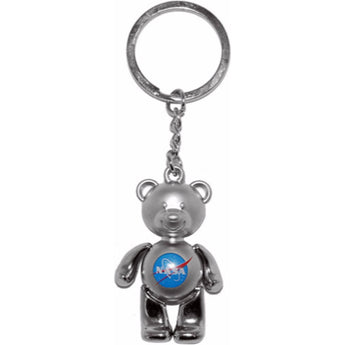 NASA Teddy Bear Keychain