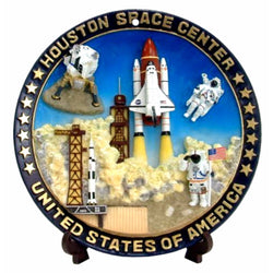 Houston Space Center Souvenir Space Shuttle Plate
