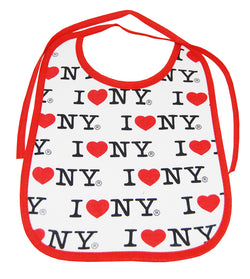 I love new york baby bib white and red