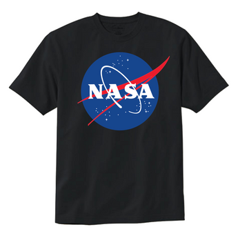 NASA Official Logo Black T-Shirt Comes in All Sizes