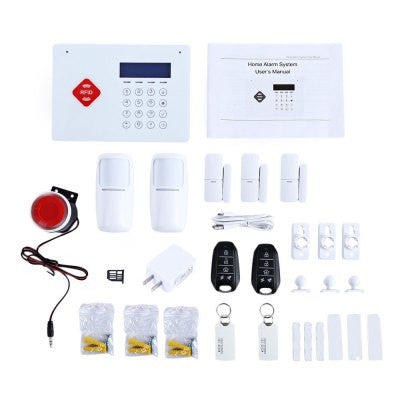 Wireless GSM RFID Infrared Alarm Home Security System