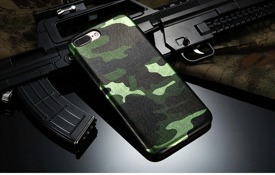 Army Camo Shockproof Back Case for iPhone