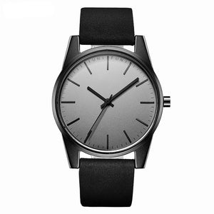 High Quality Water Resistant Elegant Leather Watch for Men + FREE Army Watch