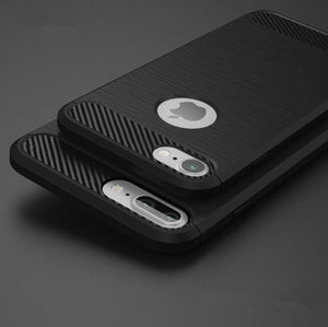 Full Protection Shockproof  Case for iPhone - Carbon Fiber Reinforced