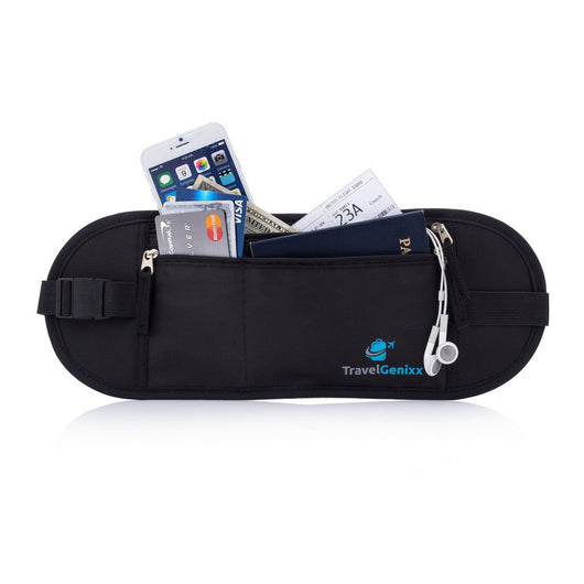 Travel Money Belt to Secure and Hide all Travel Essentials