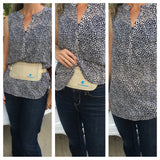 Super slim fitting hidden travel wallet | waist pouch to keep travel essentials safe
