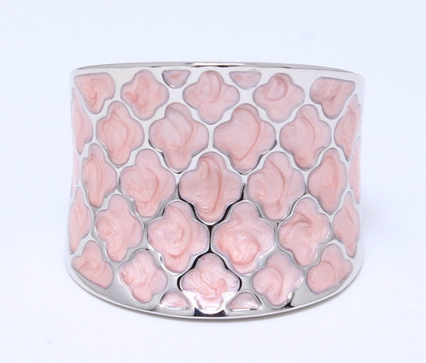 pink-enamel-ring-epoxy-snake-scales-rhodium