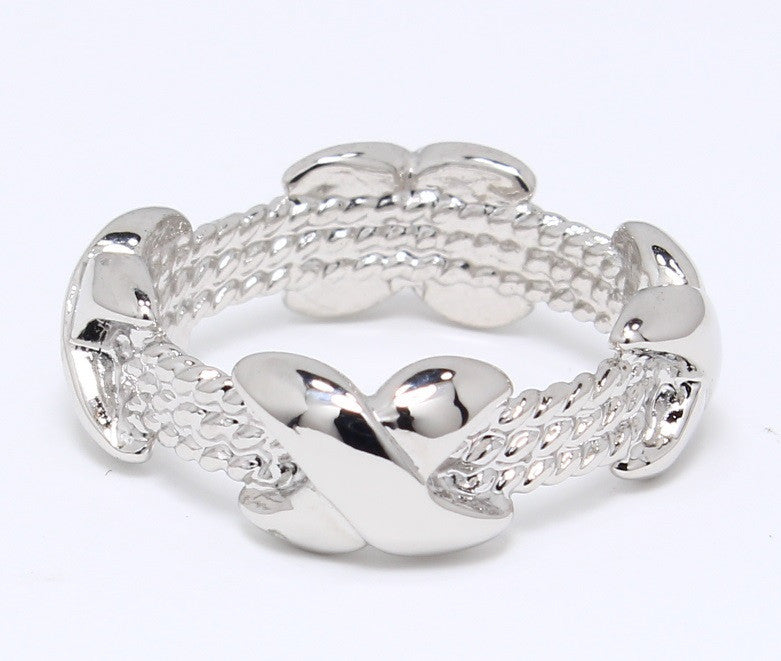 platinum-plated-wedding-band-knotted-xoxo-love-eternity-stone-less