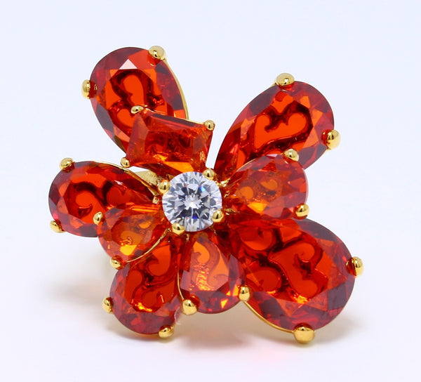 orange-sapphire-ruby-cubic-zirconia-ring-flower-14k-yellow-gold-plated