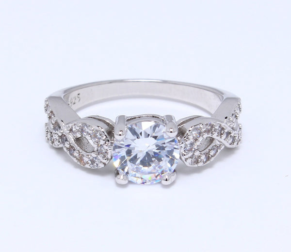 HUGE-CZ-Diamond-Ring-in-White-Gold-Plated-Diamond-Embedded-Infinity-Set-Round-Classic-Solitaire