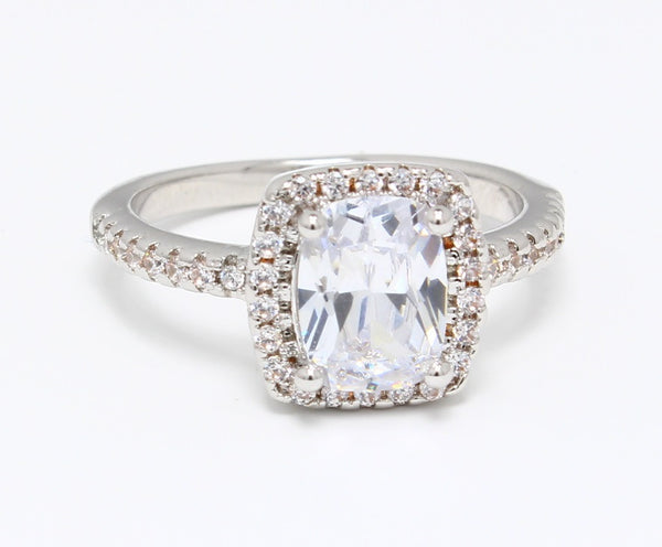 HUGE-CZ-Diamond-Ring-in-White-Gold-Plated-Diamond-Embedded-Set-Emerald-Cut-Solitaire