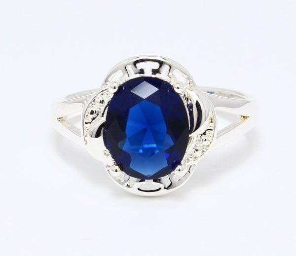 CZ-Sapphire-Ring-Cocktail-Platinum-Plated